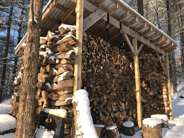 Wood shed 2017